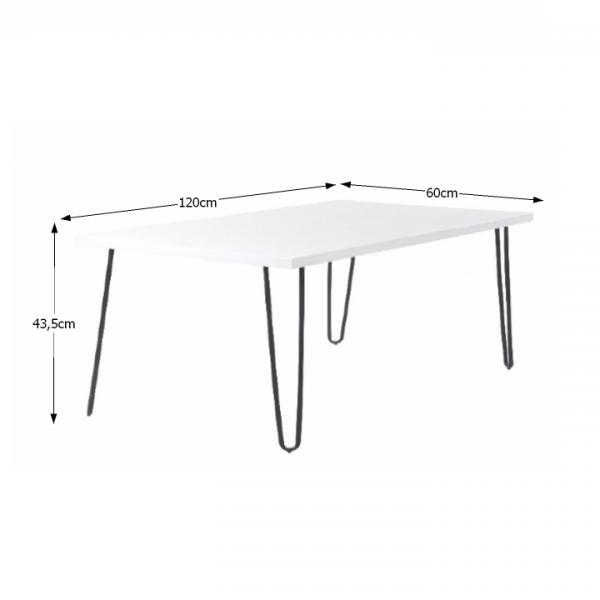 Konferenčný stolík, biela/čierna, KATRO