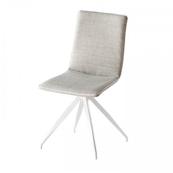Stolička, svetlosivá/biela, BAHIRA