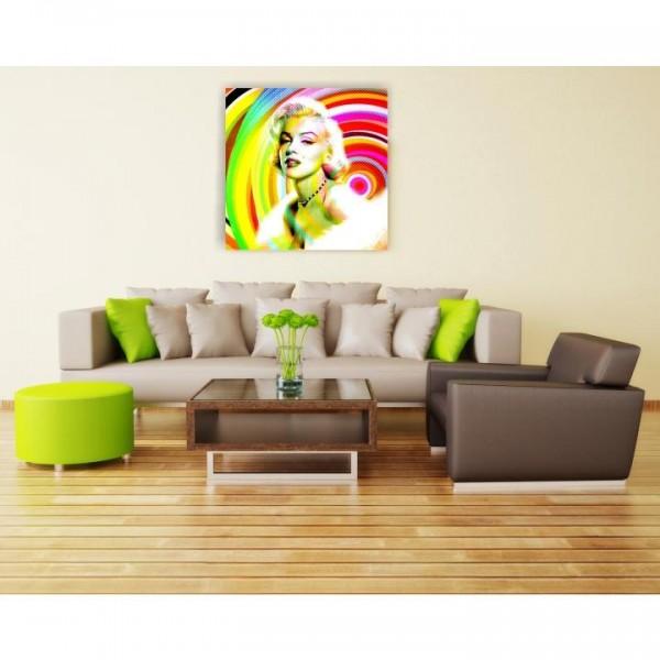 TEMPO KONDELA Obraz, ručne maľovaný, 100x100 cm, 30012