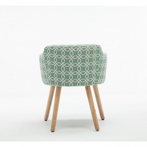 Dizajnové kreslo, zelená vzor, DIPSY