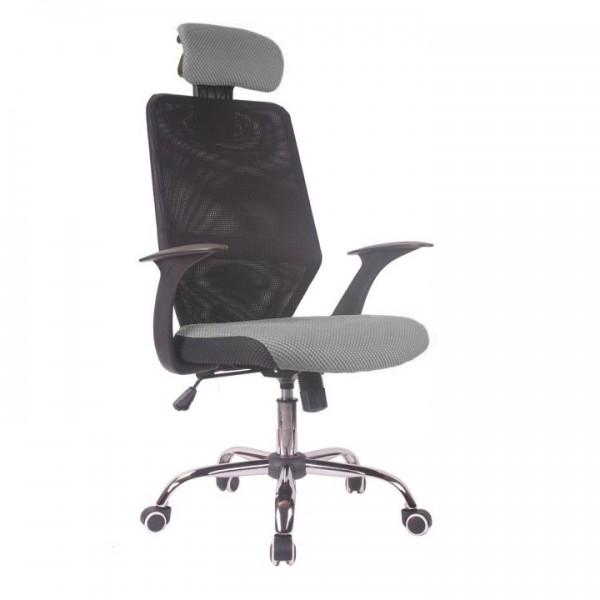Kancelárske kreslo, čierna/sivá, REYES NEW