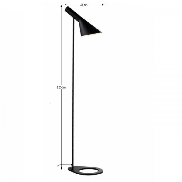 Stojacia lampa, čierny kov, CINDA Typ 2 F6114