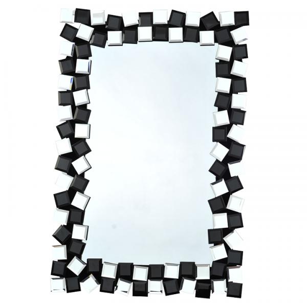 TEMPO KONDELA Zrkadlo, čierna/biela, ELISON TYP 8