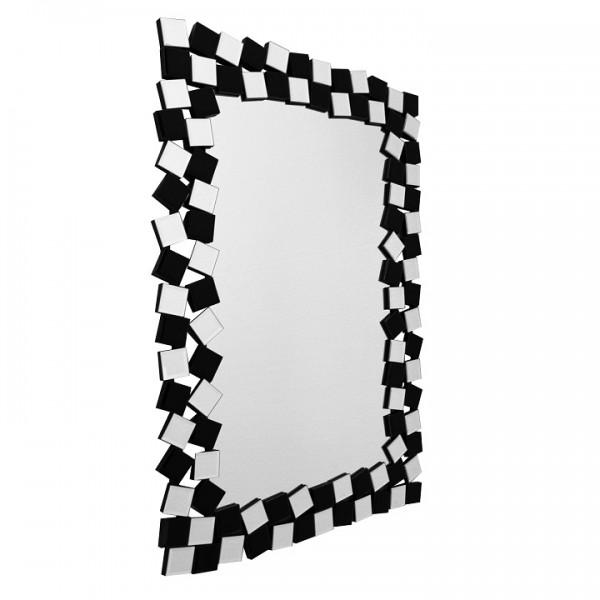 Zrkadlo, čierna/biela, ELISON TYP 8