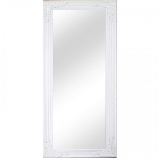 TEMPO KONDELA Zrkadlo, drevený rám bielej farby, MALKIA TYP 8
