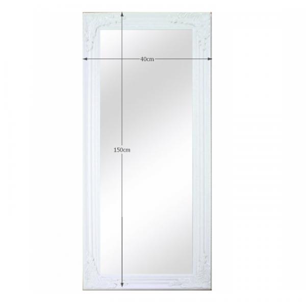 Zrkadlo, drevený rám bielej farby, MALKIA TYP 8