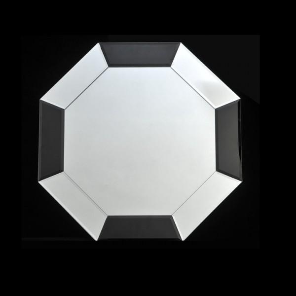 Zrkadlo, čierna/biela, ELISON TYP 14