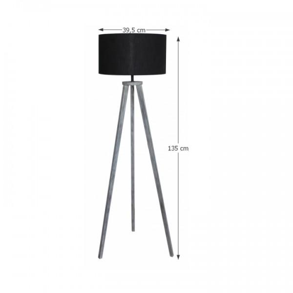 Stojacia lampa, čierna/sivá, JADE Typ 10 6034-41B