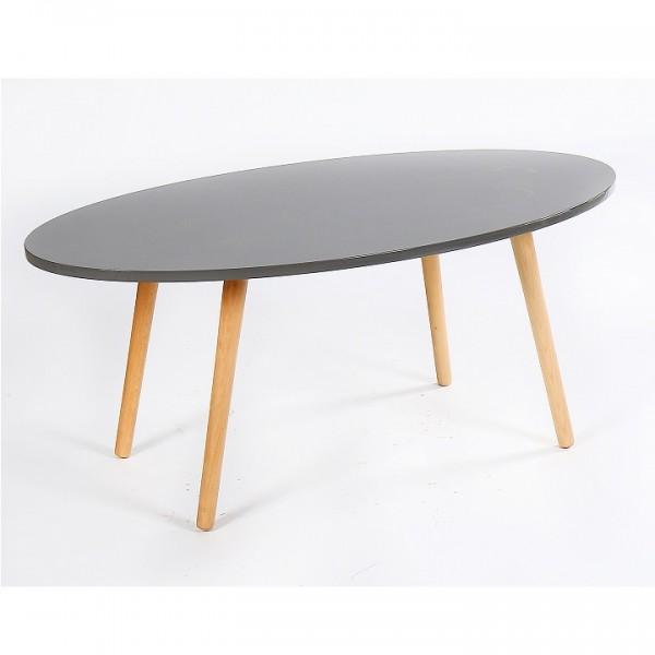 Konferenčný stolík, sivá/natural, BAZZY 1