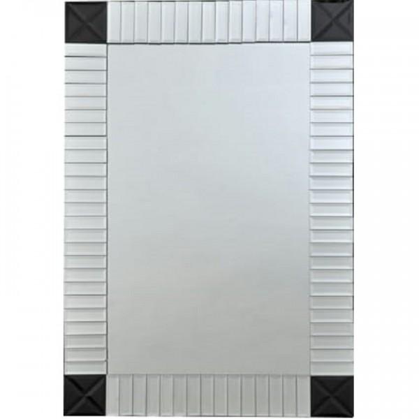 Zrkadlo, strieborná/čierna, ELISON TYP 3