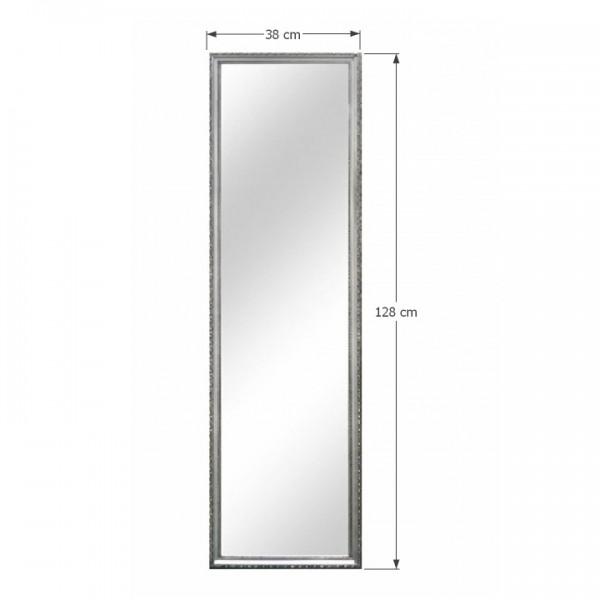 TEMPO KONDELA Zrkadlo, strieborný drevený rám, MALKIA TYP 3