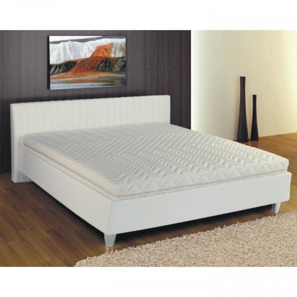 Manželská posteľ, ekokoža biela, 180x200, DREAM