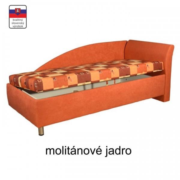 Váľanda s úložným priestorom, pravá, molitanová, 90x200, PERLA
