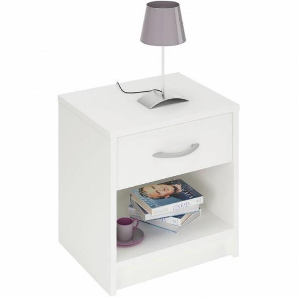 TEMPO KONDELA Nočný stolík, biela, BISI 305895