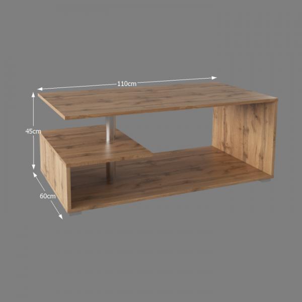 Konferenčný stolík, dub wotan, DORISA