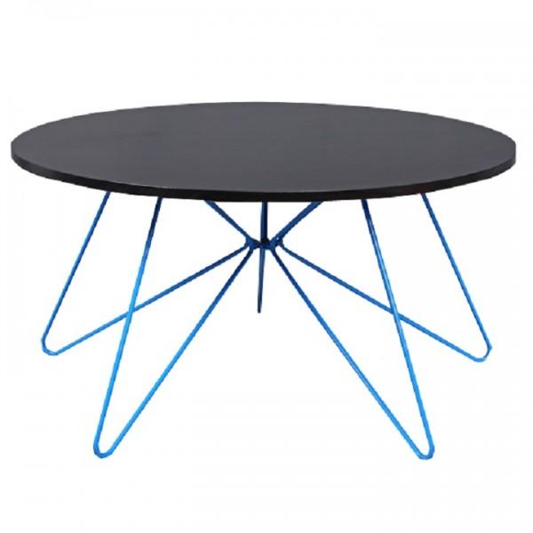Konferenčný stolík, čierny dub/modrá, MIKKEL