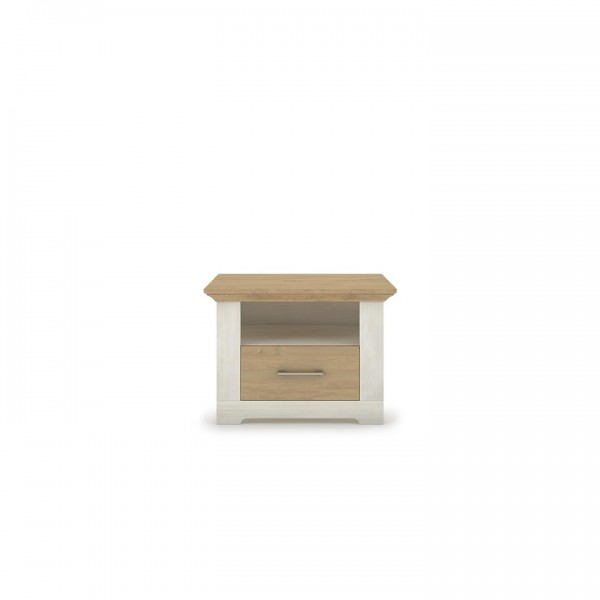 TEMPO KONDELA Nočný stolík, sosna nordická/dub kamenný, ARMOND TYP 17