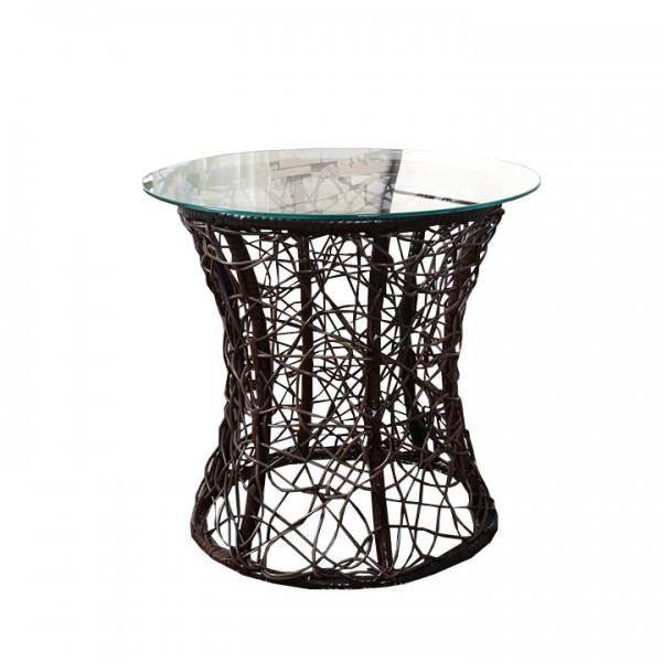 Príručný stolík, hnedá, SALMAR