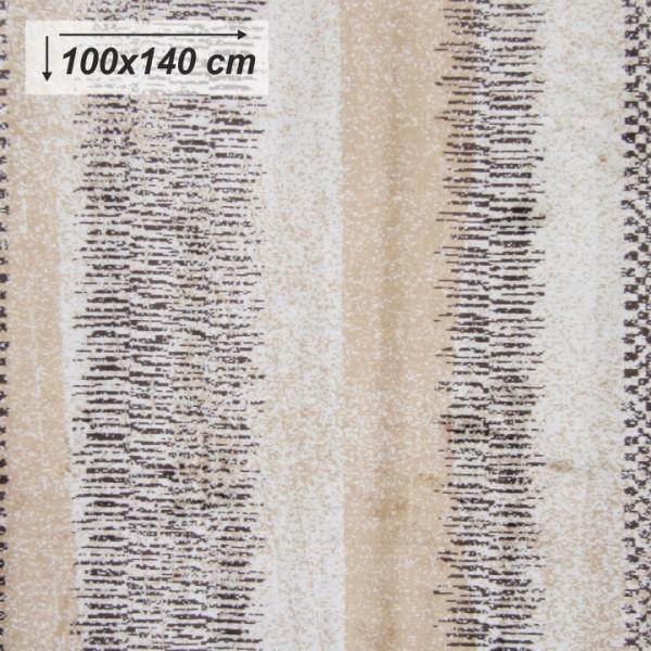 Koberec, béžová/vzor, 100x140, AVALON