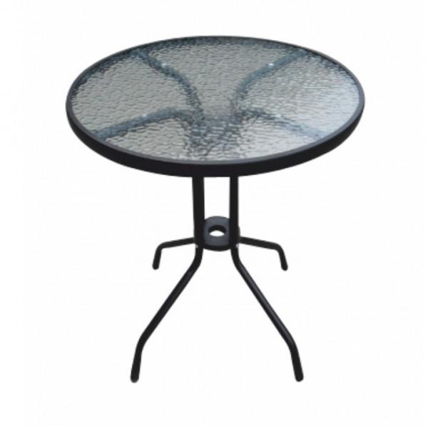 Jedálenský stôl, čiena oceľ/tvrdené sklo, BORGEN TYP 1