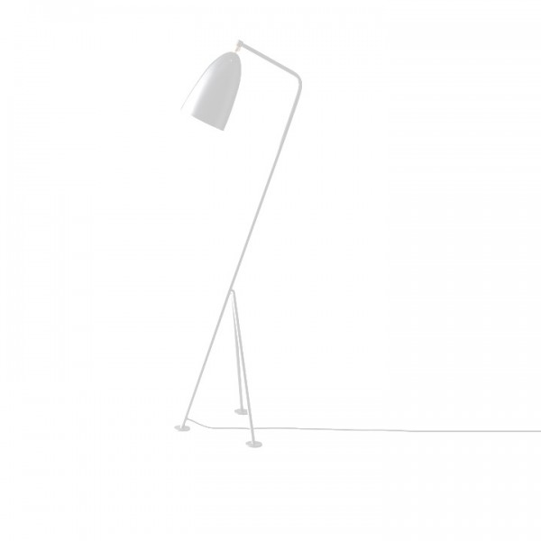 Stojacia lampa, biely kov, CINDA Typ 24 YF6250-W