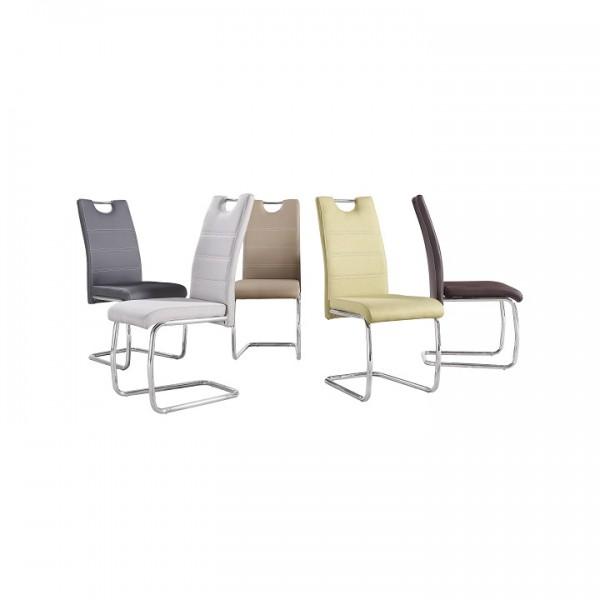 Jedálenská stolička, zelená/svetlé šitie, ABIRA NEW