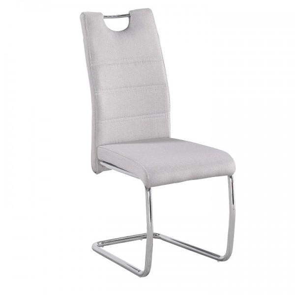 TEMPO KONDELA Jedálenská stolička, béžová/svetlé šitie, ABIRA NEW