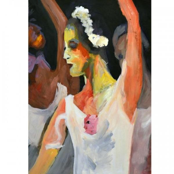 TEMPO KONDELA Obraz, ručne maľovaný, 60x90 cm, 33192