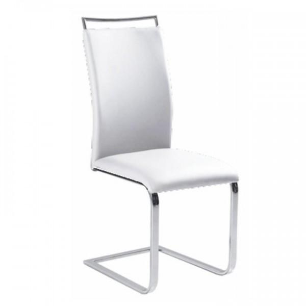 TEMPO KONDELA Jedálenská stolička,  biela, BARNA NEW