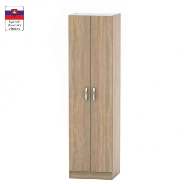 TEMPO KONDELA 2-dverová skriňa, vešiaková, dub sonoma, BETTY 2 BE02-004-00
