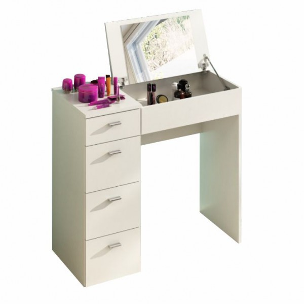 TEMPO KONDELA Toaletný stolík, toaletka, biela, BELINA