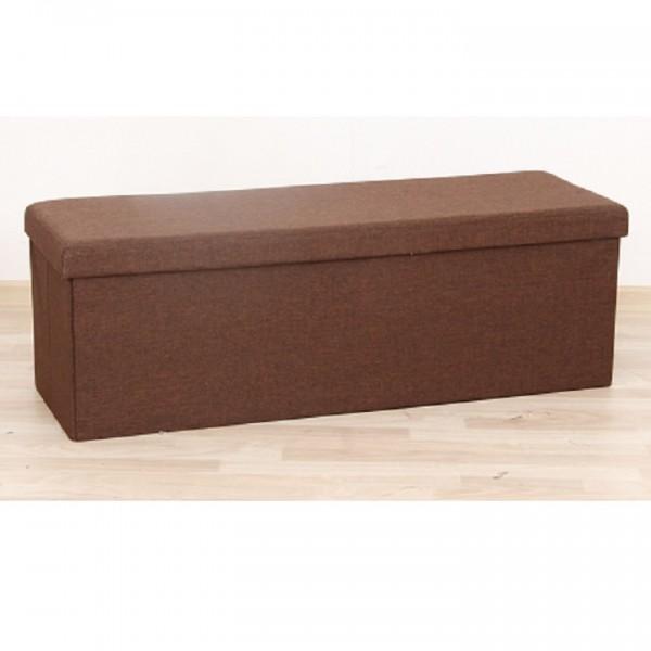 Skladací taburet, hnedá látka, UMINA
