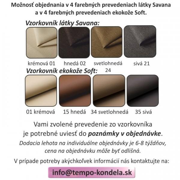 Rohová sedacia súprava, biela/čierna, ľavá, MARBELA 2+3
