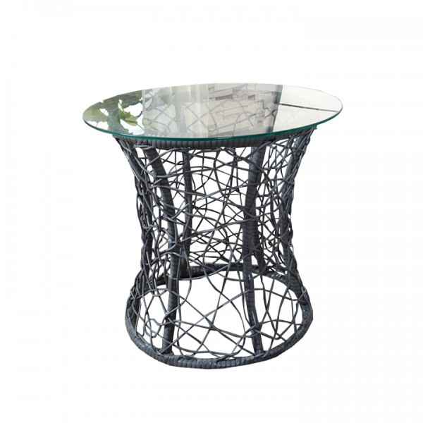 Príručný stolík, sivá, SALMAR