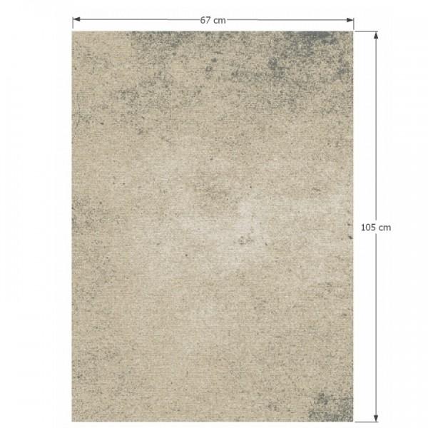 Koberec, béžová, 67x105, SAURON
