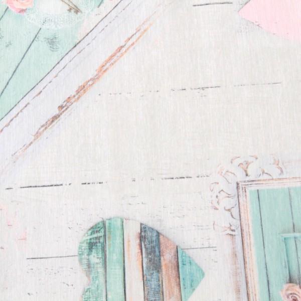 Koberec, béžová/vintage vzor, 80x150, SONIL