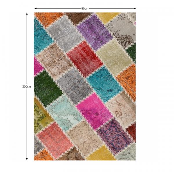 Koberec, viacfarebný, 80x300,  ADRIEL