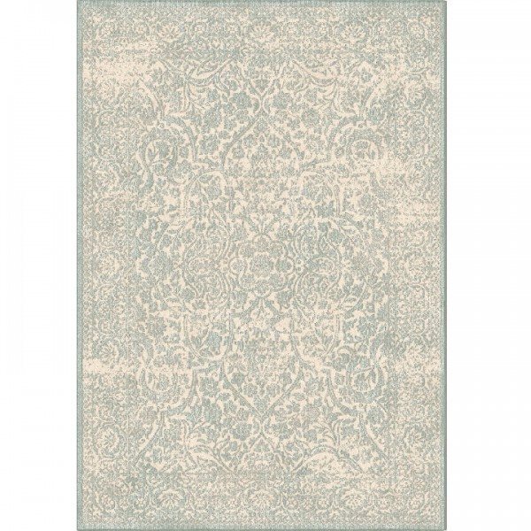 Koberec, krémová/sivý vzor, 140x200, ARAGORN
