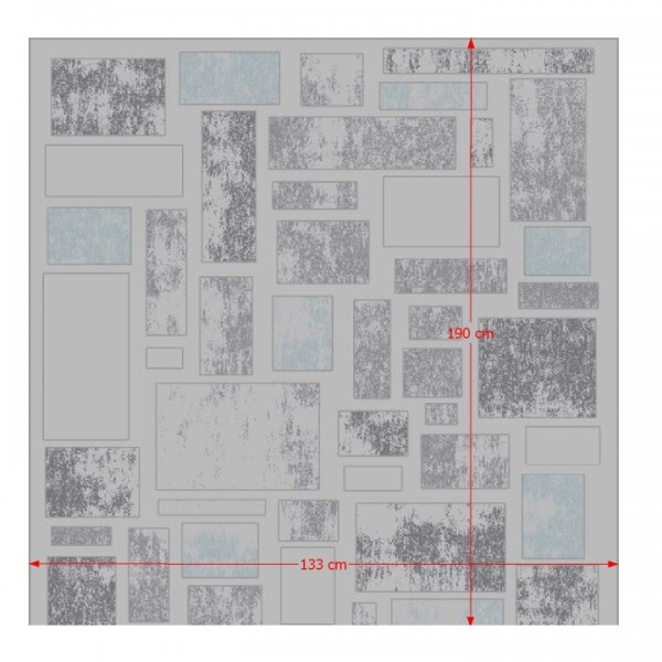 Koberec, viacfarebný, 133x190, HEATHER