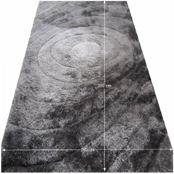 Koberec, sivý, vzor, 140x200, VANJA