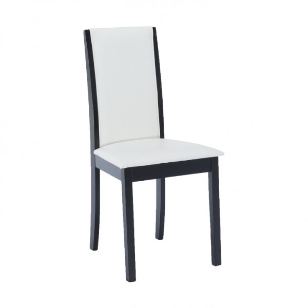 Stolička, wenge/ekokoža biela, VENIS NEW