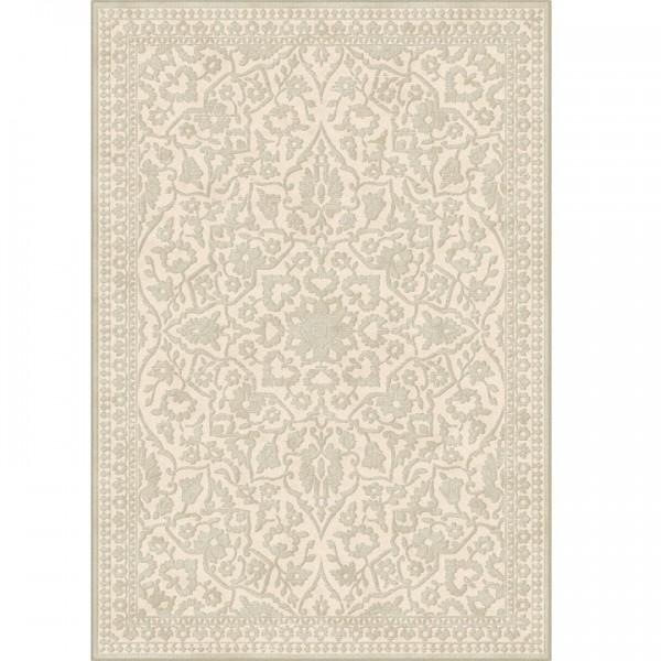 Koberec, krémová, vzor, 67x210, ROHAN