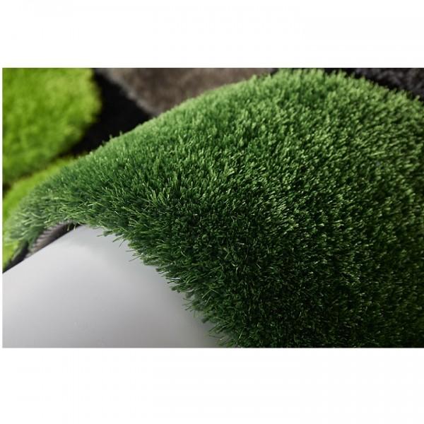 Koberec, zelená/sivá/čierna, 100x140, PEBBLE TYP 1