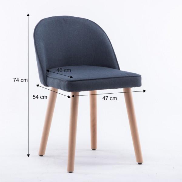 Stolička, sivá, LALIMA