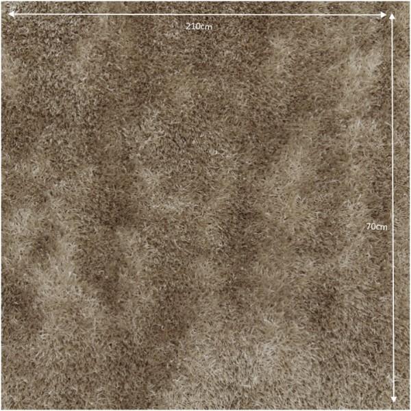 Koberec, krémová, 70x210, AROBA