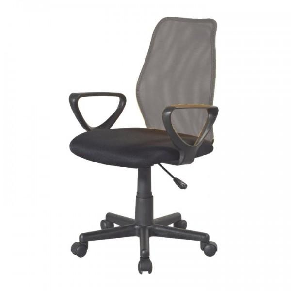 TEMPO KONDELA Kancelárska stolička, sivá/čierna, BST 2010 NEW