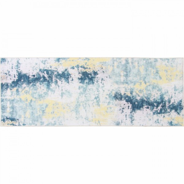 Koberec, sivá/žltá, 80x200, MARION TYP 1