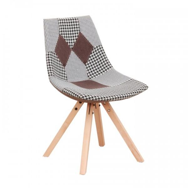 TEMPO KONDELA Dizajnová stolička, látka patchwork, PEPITO NEW TYP 10