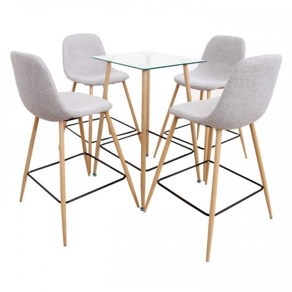 TEMPO KONDELA Jedálenský set stôl/štyri stoličky, DAMAN