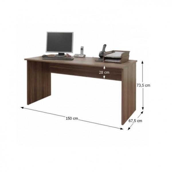 Písací stôl, slivka, JOHAN NEW 01